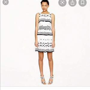 Jcrew button front dress in roller girl